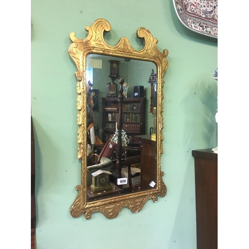1010 - C19th. Irish gilt mirror....