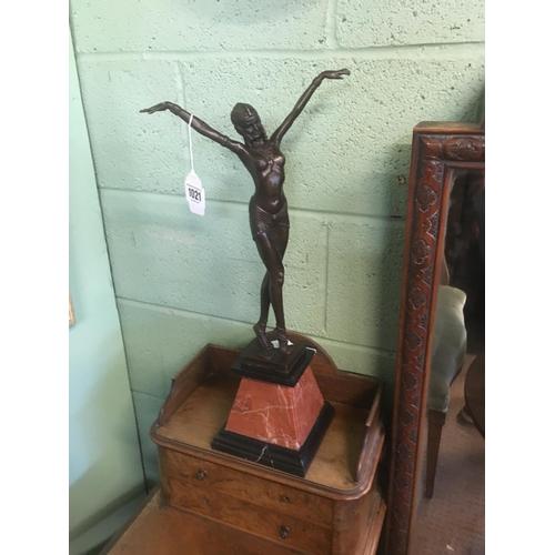 1021 - Bronze Art Deco style Dancer onn marble base....