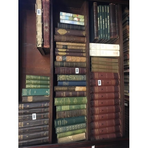 1068 - SHELF of 24 leatherbound books including CASSELS....