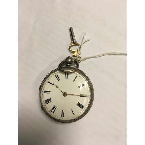 1131 - Silver cased pocket watch. John Donegan Dublin....