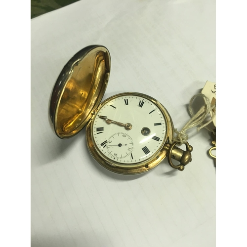 1134 - Early silver  verge doctor's pocket watch with keys by James Brookes 6 Charring Cross London....