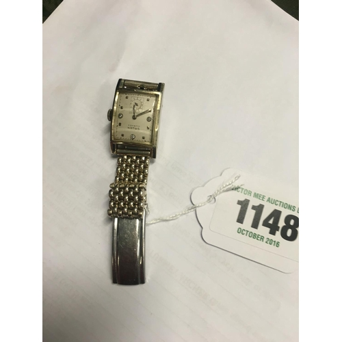 1148 - GRUEN convex Gent's wristwatch with diamonds made in Germany and cased in the USA....