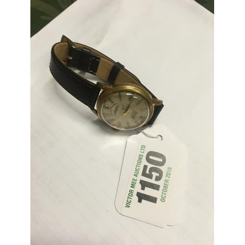 1150 - Gent's wrist watch with leather strap....
