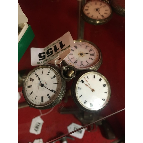 1155 - Three C19th. Silver ladies pocket watches....