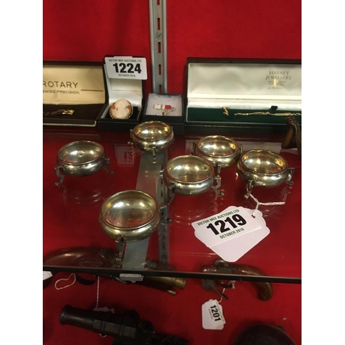 1219 - Six silver salts....