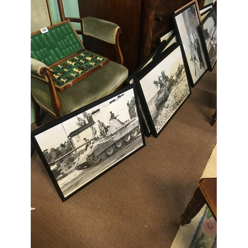 1253 - Collection of eleven black and white prints of WWII PANZAR tanks....