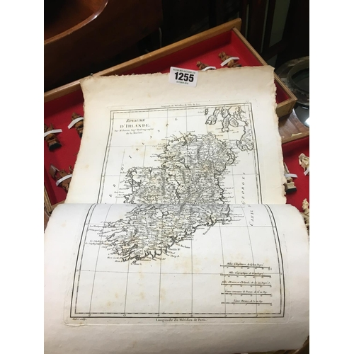 1255 - Early C18th. French map of Ireland...