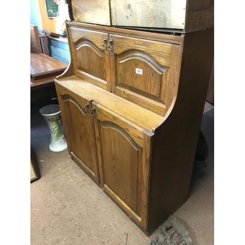 1257 - Modern oak side cabinet....