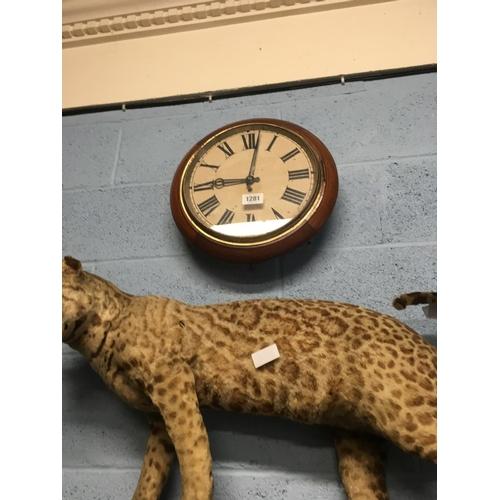1281 - C19th mahogany wall Clock....