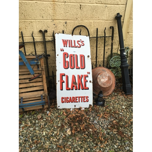 1315 - Small Will's GOLD FLAKE enamel advertising sign....