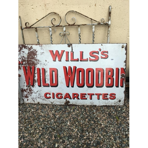 1320 - Will's WILD WOODBINE enamel advertising sign....