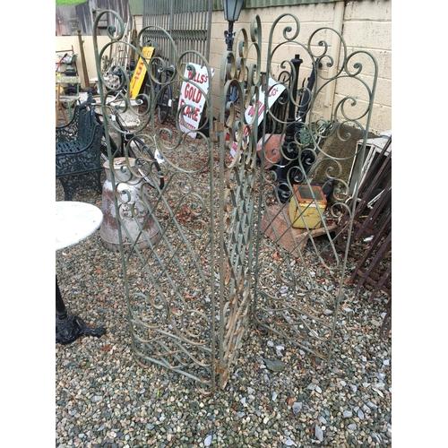 1330 - Unusual wrought iron garden screen....