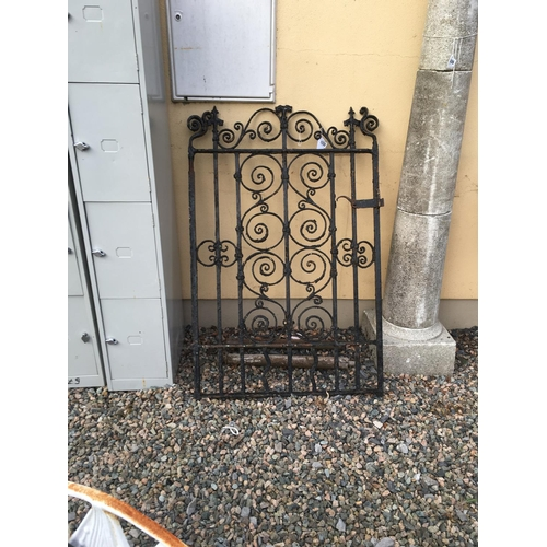 1332 - C19th. Wrought iron garden gate. (1365cmH x 95cmW)....