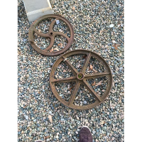 1341 - Two C19th. Metal wheels....