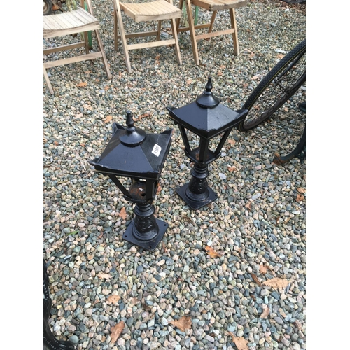 1350 - Pair of cast iron pier lights....