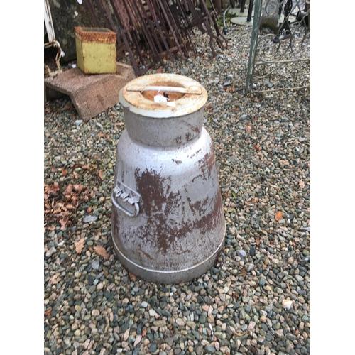 1361 - Metal haystack creamery can....