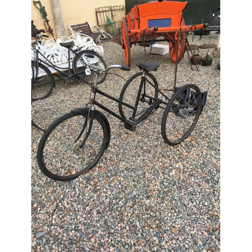 1363 - 1950's BROOKS three wheeler bicycle....