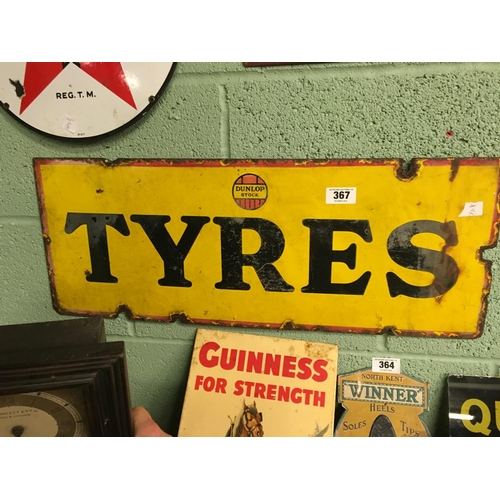 367 - Original DUNLOP STOCK TYRES enamel sign....