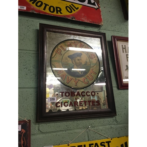 370 - Original PLAYERS NAVY CUT TOBACCO advertising mirror....