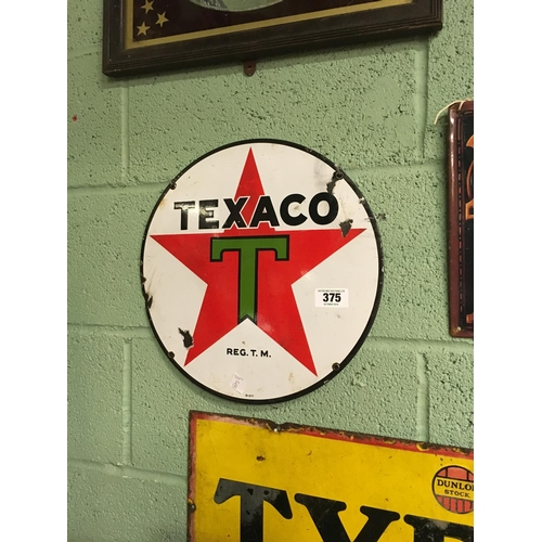 375 - Original TEXACO enamel sign....
