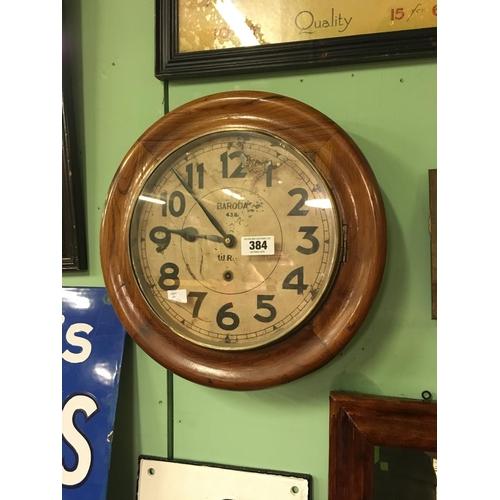 384 - 1920's BARODA wall clock....