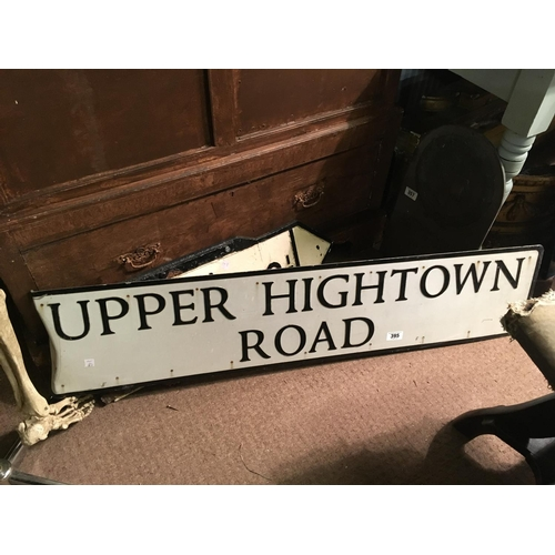 395 - UPPER HIGH TOWN street sign....