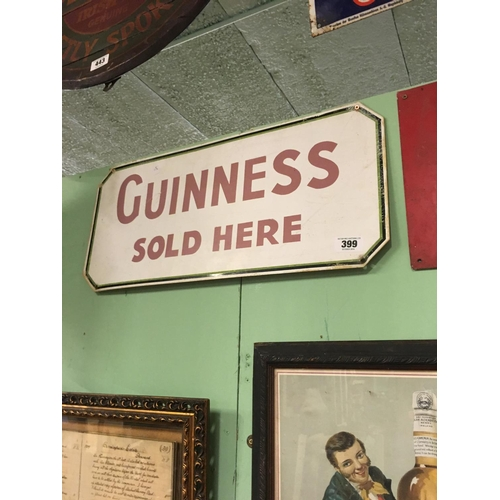 399 - 1960's GUINNESS SOLD HERE advertising sign....