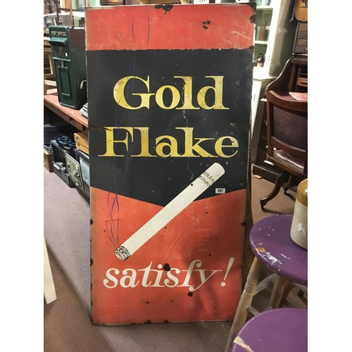 421 - Original GOLD FLAKE advertisihg sign....