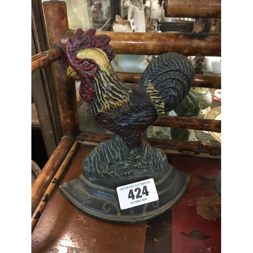 424 - Cast iron model of  a rooster....