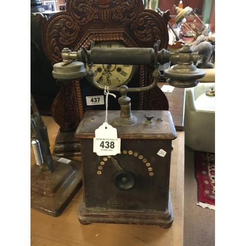 438 - 1920's hotel telephone....