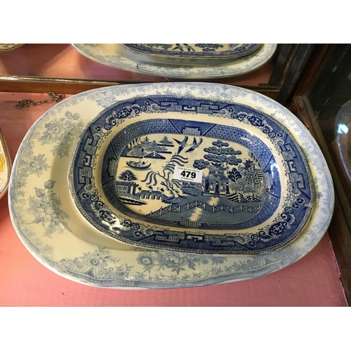 479 - Two C19th. Joint dishes....