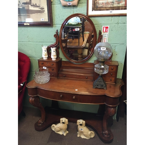 493 - Victorian mahogany duchess dressing table....