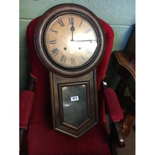 513 - Victorian mahogany drop dial clock....