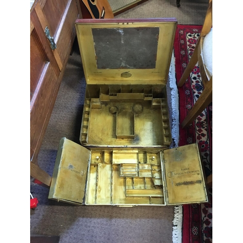514 - Rare C19th. Campaign surgical instrument box....