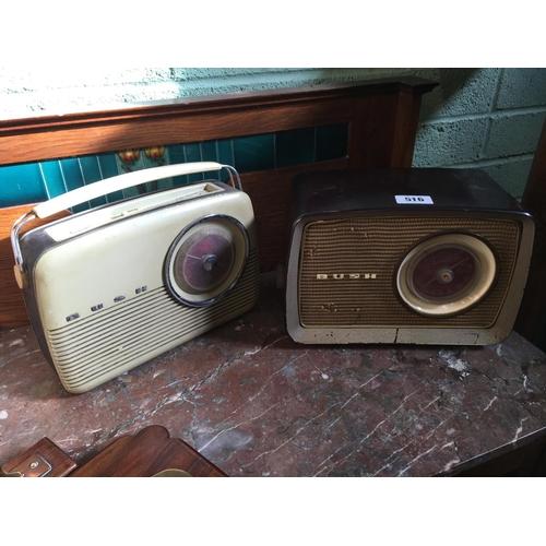 516 - BUSH radio and 1950/60's BUSH transistor....