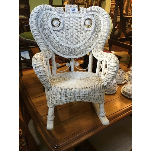 523 - Child's bedroom wicker chair....