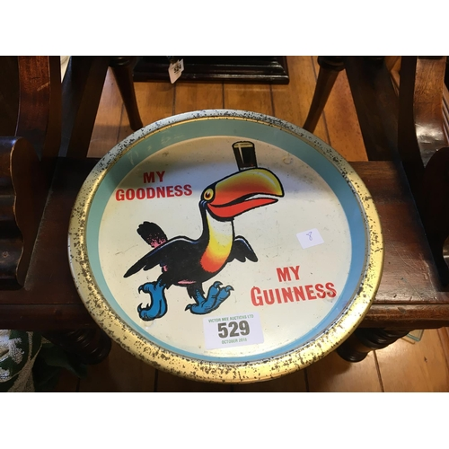 529 - MY GOODNESS MY GUINNESS tin plate pub tray....