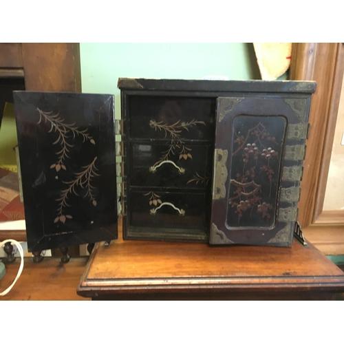 545 - Papier Maiche specimen box....