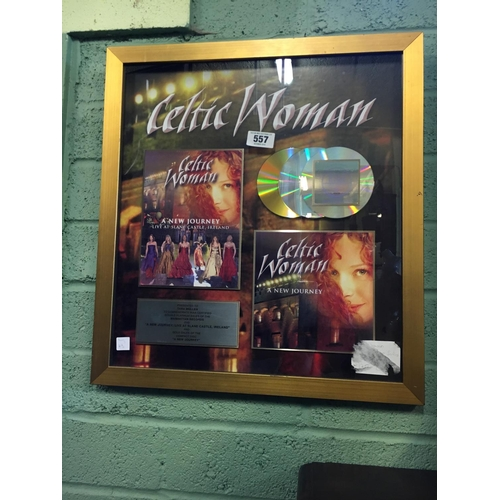 557 - In recognition of achieving double platinum sales of A NEW JOURNEY LIVE AT SLANE awarded to Tara Mul...