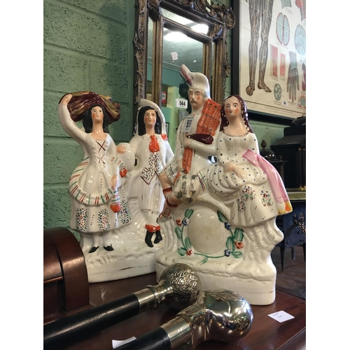 558 - Pair of Staffordshire figurines....