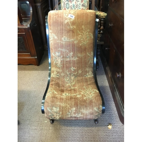 568 - Victorian upholstered nursing chair....