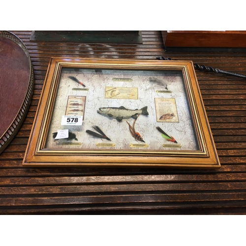 578 - Framed fishing collage....