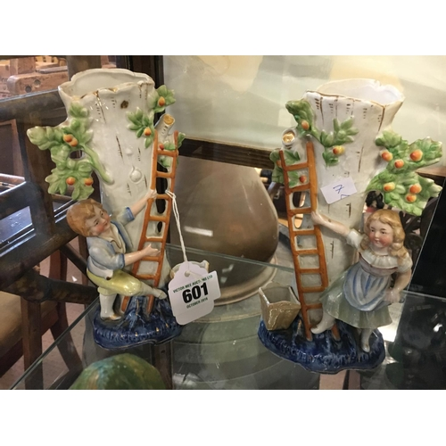 601 - Pair of late C19th. Spill vases....