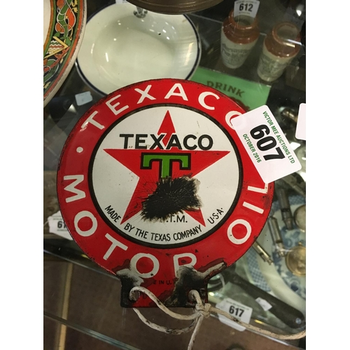 607 - Small TEXACO enamel sign....