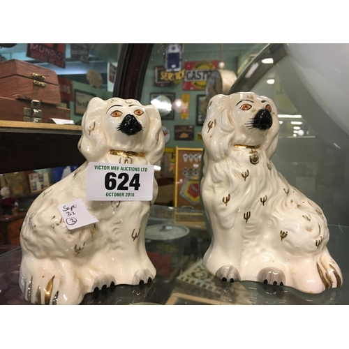 624 - Pair of Staffordshire dogs....