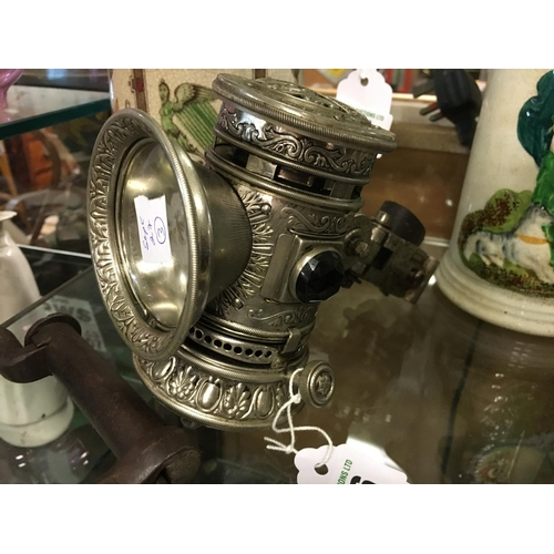 636 - Rare 1897 carbide bicycle lamp....