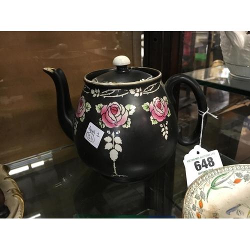 648 - 19th. C. Sherry tea pot....