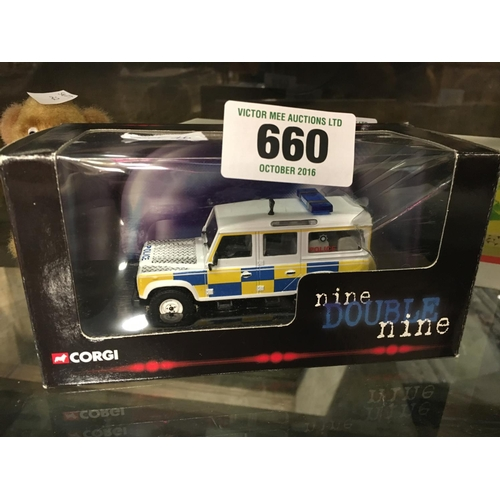 660 - CORGI 999 POLICE Land Rover in original box....