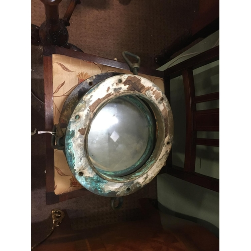 711 - Two C19th.brass and metal portholes....