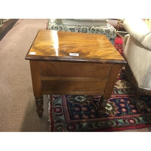 738 - Victorian log box....